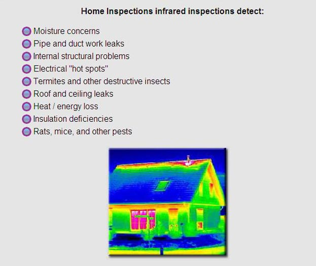 what thermal imaging scans can detect